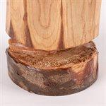 Non, sculpture sur bois