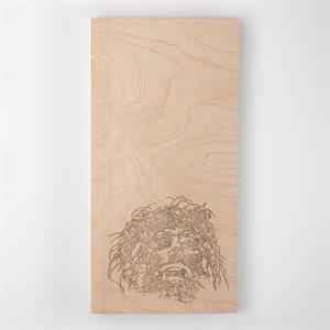 Dervish, pyrography on wood