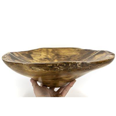 Bol en bois récupéré, sculpté à la main