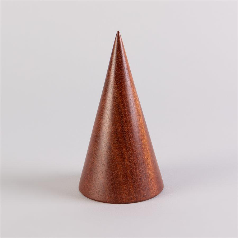 Cône de présentation pour bijoux en bois sculpté, grand format