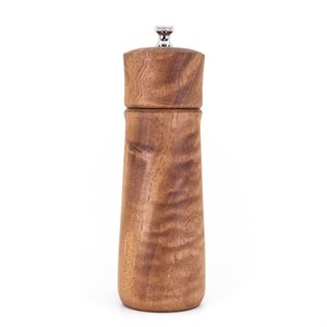 Carved Mahogany Pepper Mill