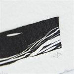 Chenal, linogravure sur papier fait main, non-encadré
