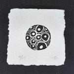 Empreinte, linogravure sur papier fait main, non encadrée