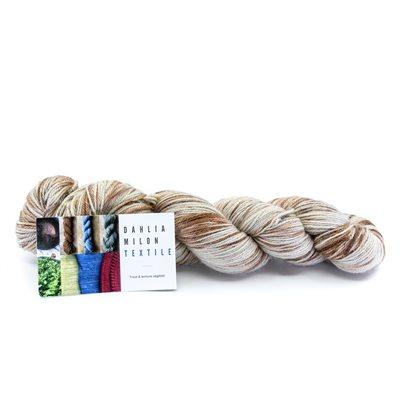 Écheveaux de laine, 80% mérinos bio, 20% nylon