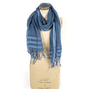Lino, foulard de soie et de coton tissé à la main