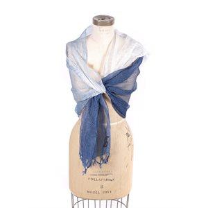 Lina, foulard de soie et de coton tissé, teinture végétale