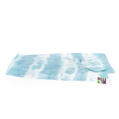 LEIZU, foulard 100% soie, teinture végétale shibori d'indigo