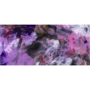 Rêverie, peinture acrylique sur feuille d'acrylique
