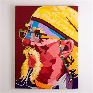 Woodstock survivor, acrylique sur toile