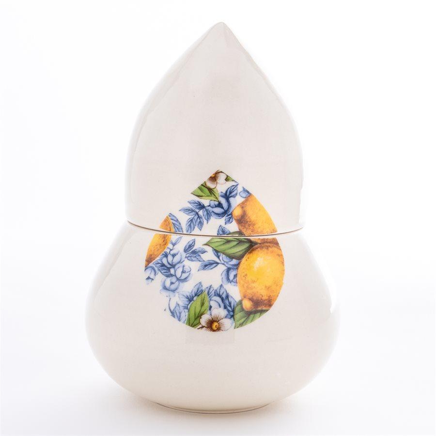Station de sel Glitch, céramique et décalque citron
