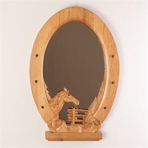Miroir tête de cheval