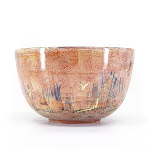 Bol en céramique peint par Sophie Lambert - Projet MAILLAGE