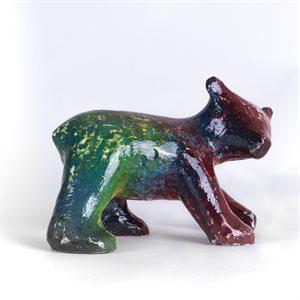 Promenade des ours, ourson de résine et peinture époxy