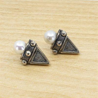 Boucle d'oreille en argent sterling et perle
