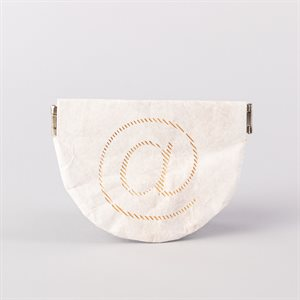 Tyvek wallet, @ model, white and gold