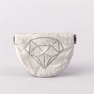 Portemonnaie en tyvek, modèle diamant, argent et gris